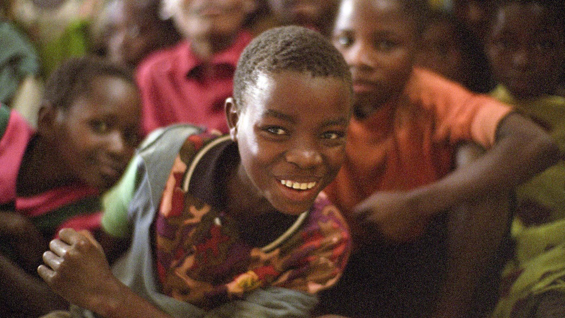 Smiling Malawian children