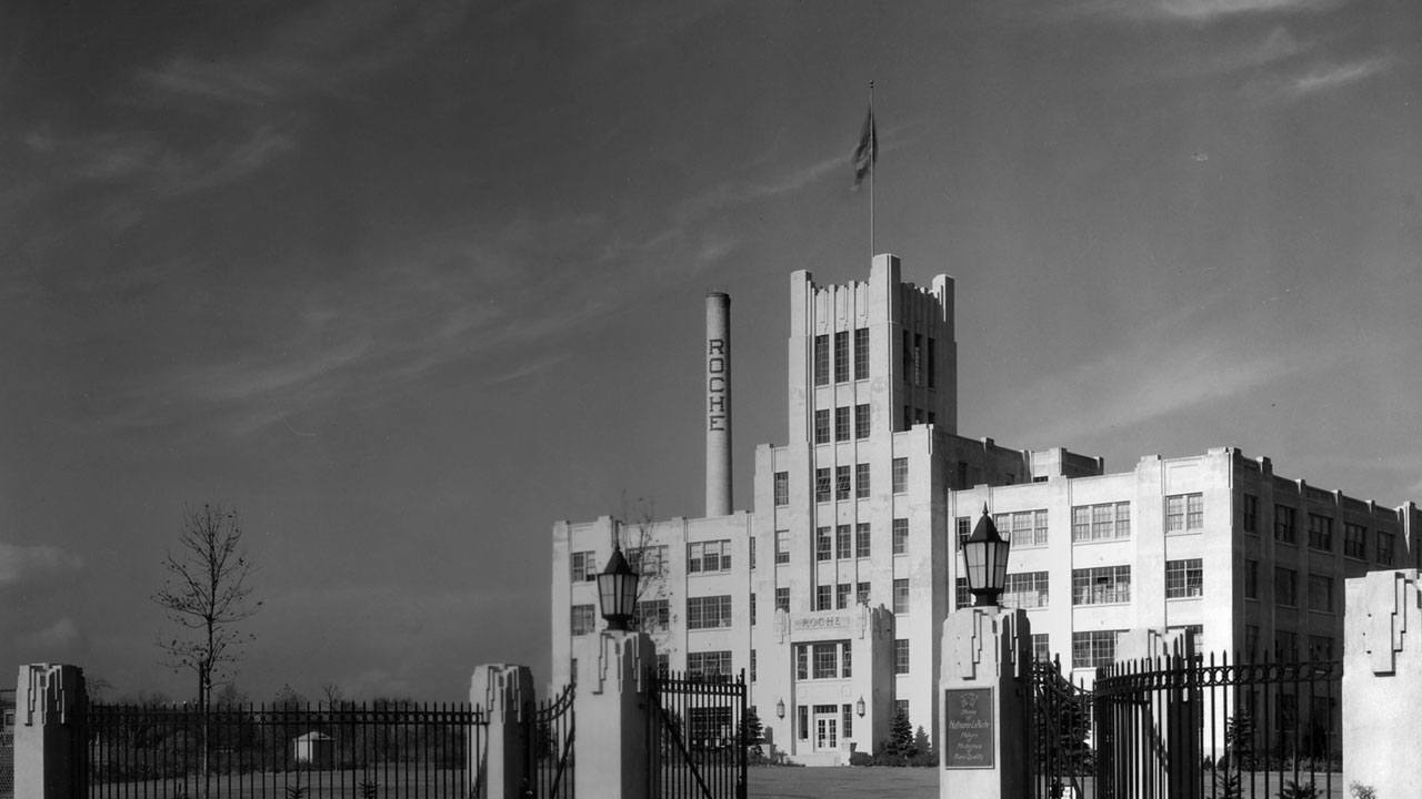 Early Roche plant in Nutley, New Jersey