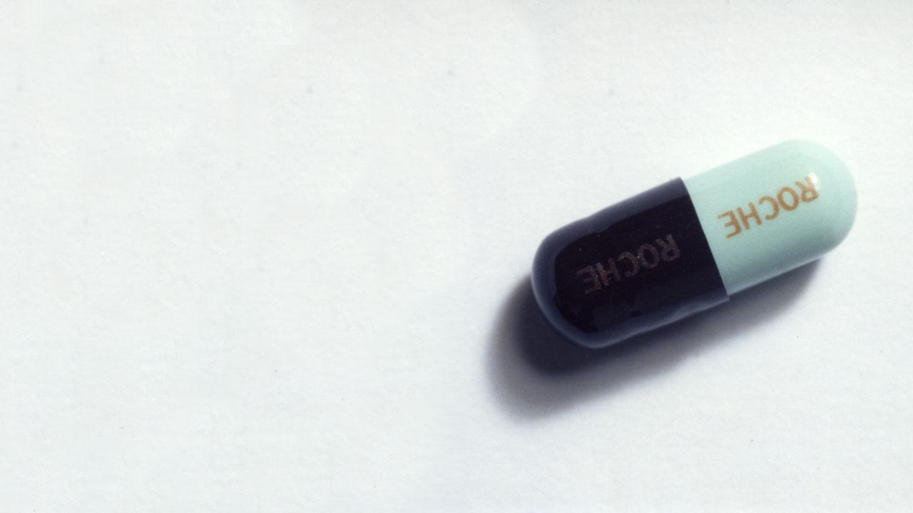 Capsule with Roche branding