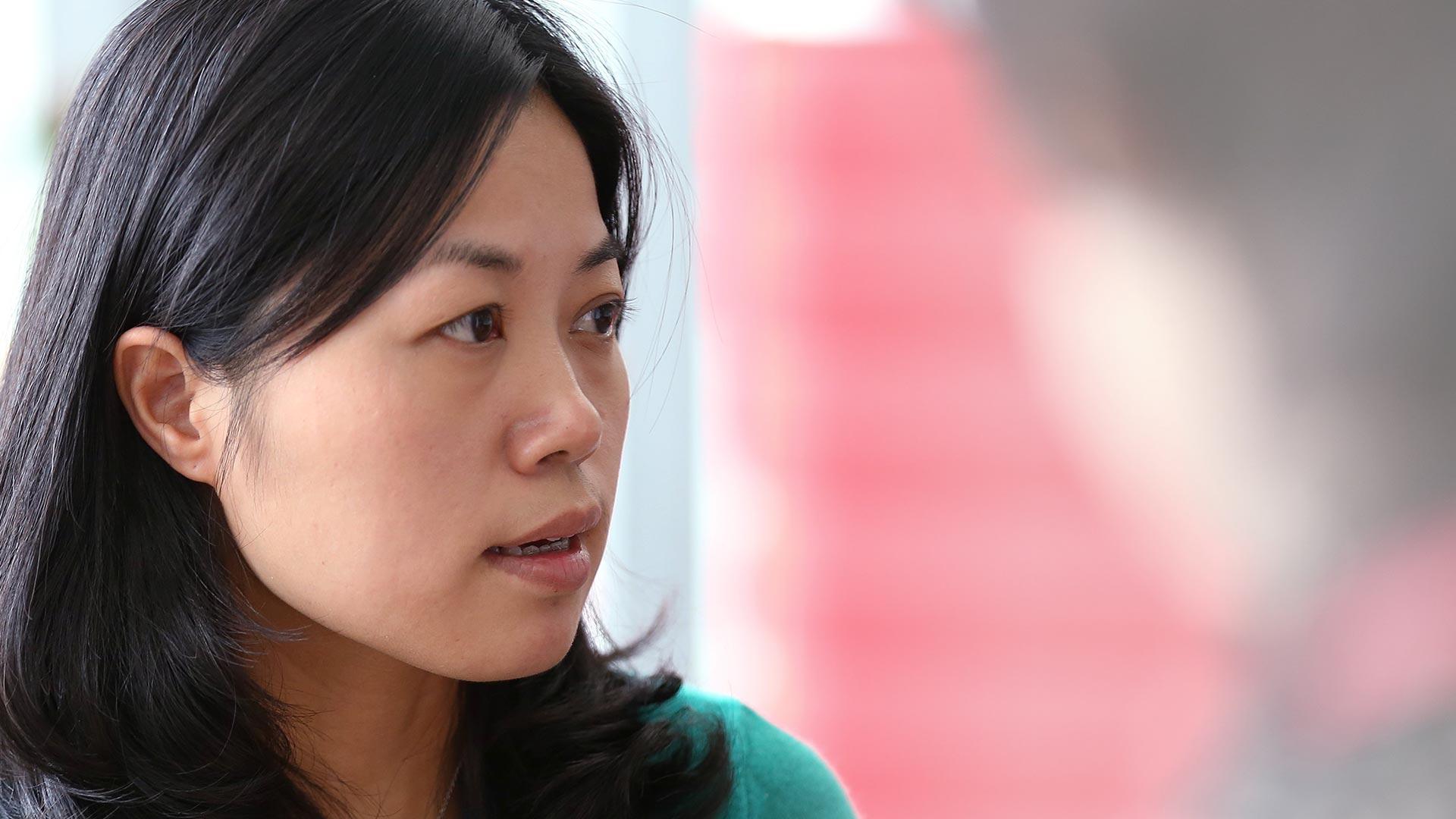 Asian woman in profile
